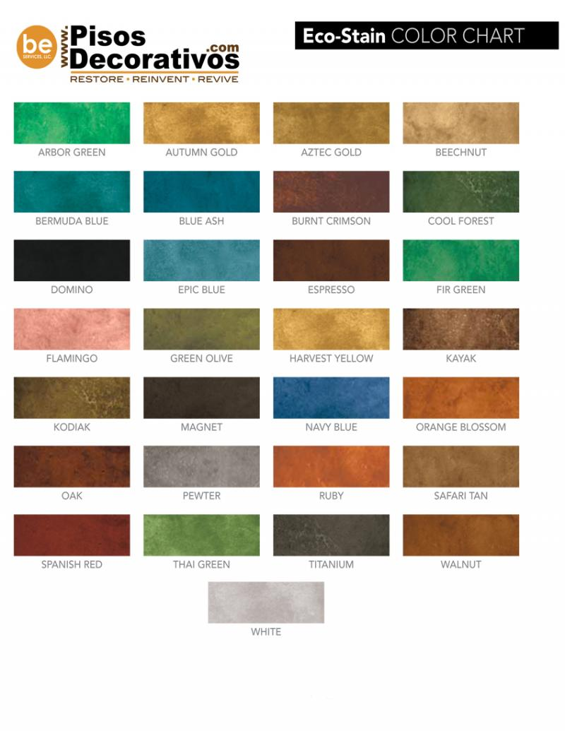 Eco Stain Color Chart